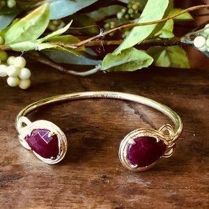 Kendra Scott Cuff Bracelet With Burgundy Stone